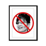 Anti Sarah Palin Framed Panel Print