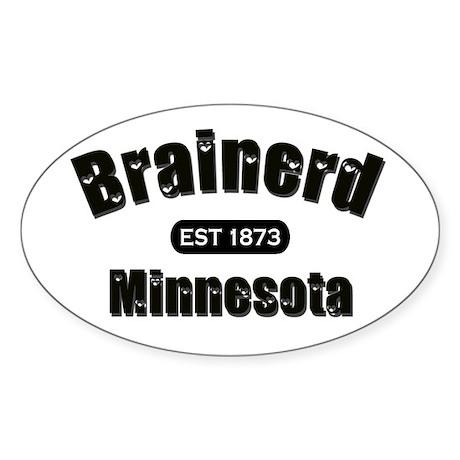 Brainerd Established 1873 Oval Sticker (10 pk)