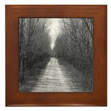 Country Road Framed Tile