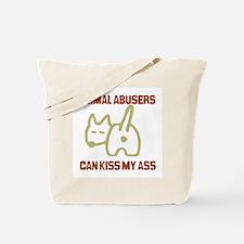 Cute Animal abuse Tote Bag