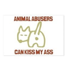 Cute Animal abuse Postcards (Package of 8)