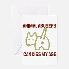 Cute Animal abuse Greeting Card