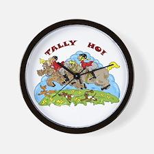 Tally Ho! Wall Clock
