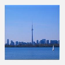 Toronto Summer Skyline Tile Coaster