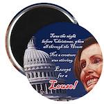 Nancy Pelosi Holiday Magnet