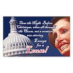 Nancy Pelosi Holiday Rectangle Sticker