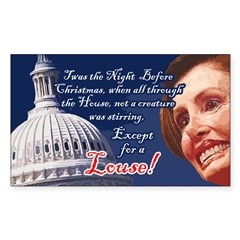 Nancy Pelosi Holiday Rectangle Sticker 10 pk)