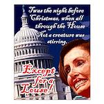 Nancy Pelosi Christmas Small Poster