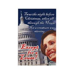 Nancy Pelosi Holiday Rectangle Magnet (10 pack)
