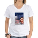 Nancy Pelosi Christmas Women's V-Neck T-Shirt