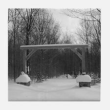 Winter Gate Tile Coaster