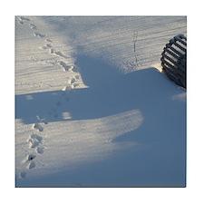 Winter Tracks Tile Coaster