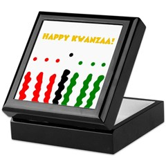 Happy Kwanzaa Candles Holidays Keepsake Box
