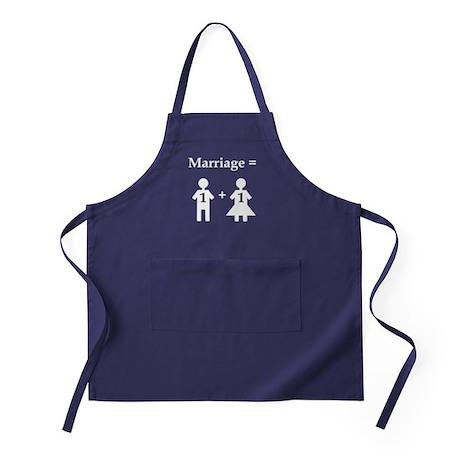 Marriage Equation Apron (dark)