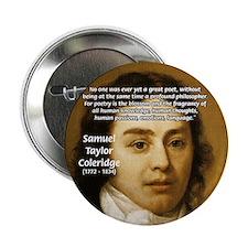 "Samuel Taylor Coleridge Poet 2.25"" Button (100 pac"