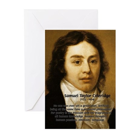 Samuel Taylor Coleridge Poet Greeting Cards (Packa