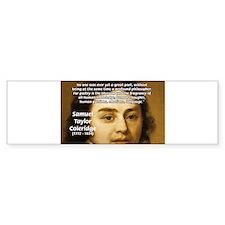 Samuel Taylor Coleridge Poet Bumper Bumper Sticker