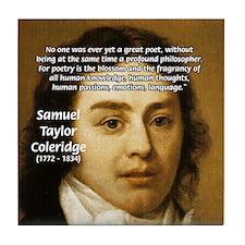 Samuel Taylor Coleridge Poet Tile Coaster