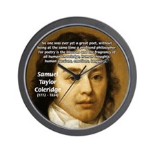 Samuel Taylor Coleridge Poet Wall Clock