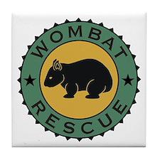 Wombat Rescue Crest II Tile Coaster