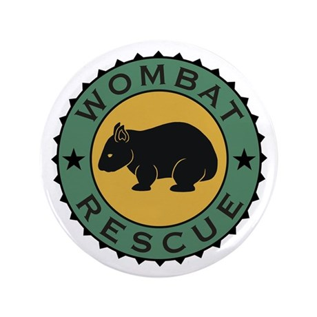 """Wombat Rescue Crest II 3.5"""" Button (100 pack)"""