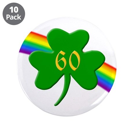 "60th Shamrock 3.5"" Button (10 pack)"