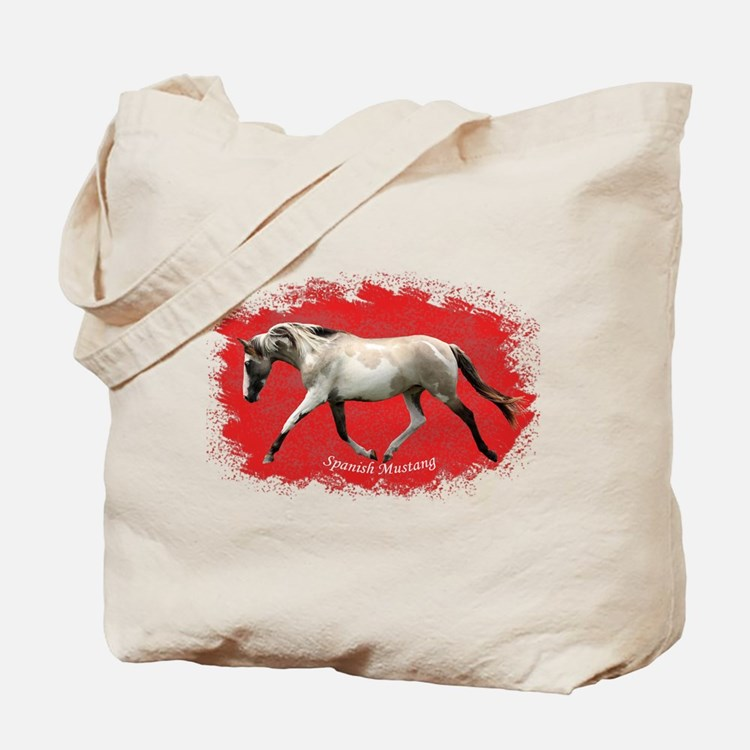 Red Multi-colored filly Tote Bag
