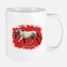 Red Multi-colored filly Mug