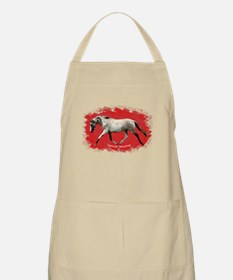 Red Multi-colored filly Apron
