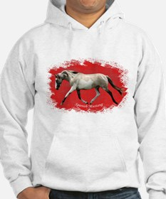 Red Multi-colored filly Hoodie