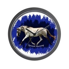 Blue Mulit-colored filly Wall Clock