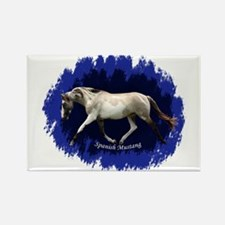 Blue Mulit-colored filly Rectangle Magnet