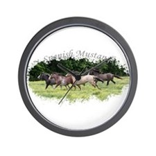 Running Geldings Wall Clock