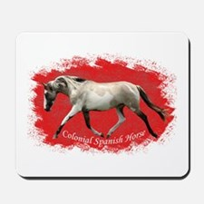 Red Multi-colored filly Mousepad