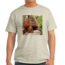 Orangutan Square Photo Ash Grey T-Shirt