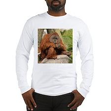 Orangutan Square Photo Long Sleeve T-Shirt