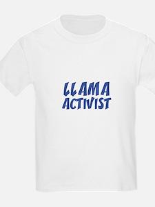 LLAMA ACTIVIST Kids T-Shirt