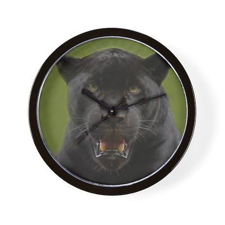 Black Jaguar Square Photo Wall Clock