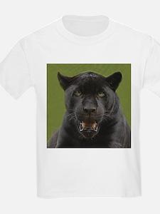 Black Jaguar Square Photo Kids T-Shirt