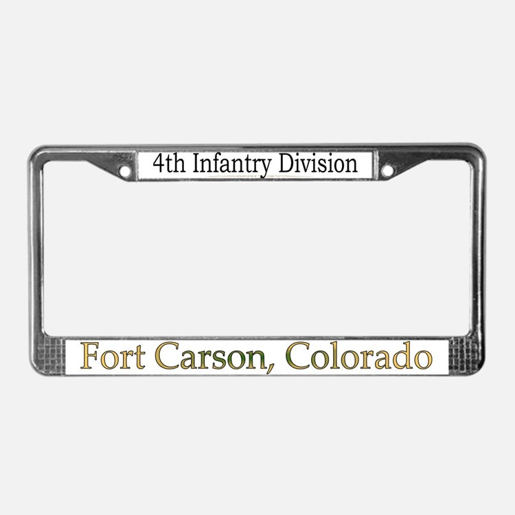 4TH INF DIV License Plate Frame
