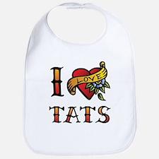 I love tats Bib