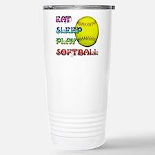 Eat Sleep Play Softball 3 Travel Mug
