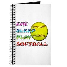 Eat Sleep Play Softball 3 Journal