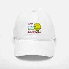 Eat Sleep Play Softball 3 Baseball Baseball Cap