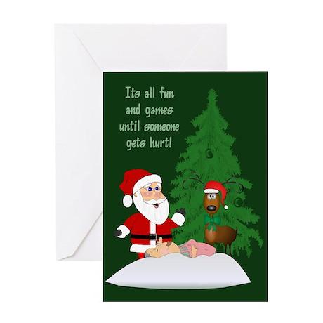 Reindeeer Games Greeting Card