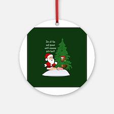 Reindeeer Games Ornament (Round)