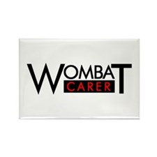 Wombat Carer II Rectangle Magnet