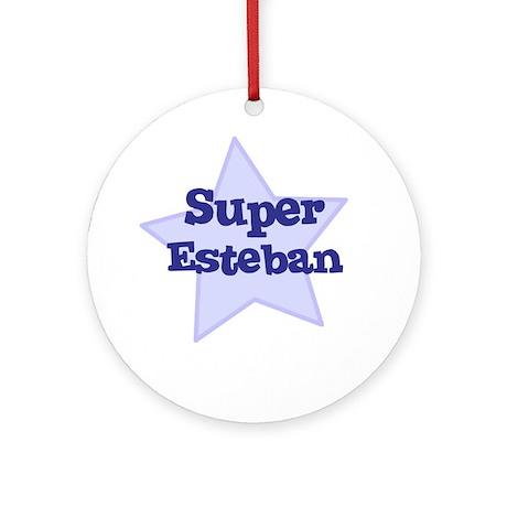 Super Esteban Ornament (Round)