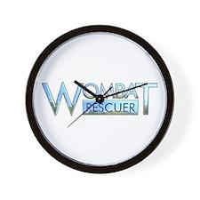 Wombat Rescuer Wall Clock