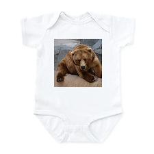 Alaskan Brown Bear Square Pho Infant Creeper
